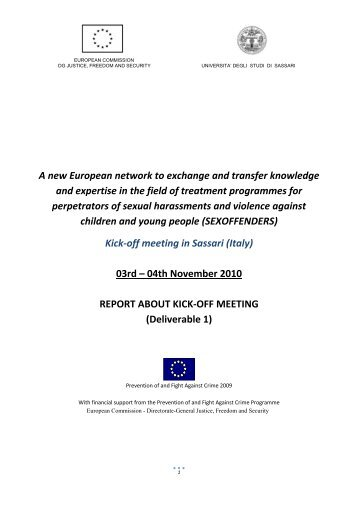 A new European network to exchange and transfer knowledge and ...