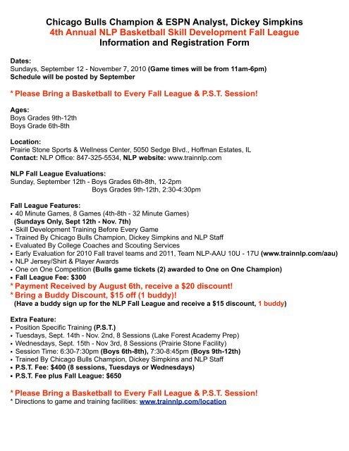 to Download Info & Registration form PDF - Next Level