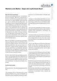 Wahrheit in den Medien – Utopie oder verpflichtende Norm? - gfmks
