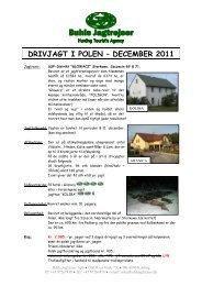 DRIVJAGT I POLEN – DECEMBER 2011 - Buhls Jagtrejser