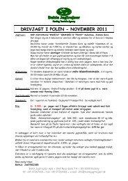 DRIVJAGT I POLEN - NOVEMBER 2011 - Buhls Jagtrejser