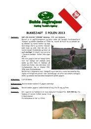 BUKKEJAGT I POLEN 2013 - Buhls Jagtrejser