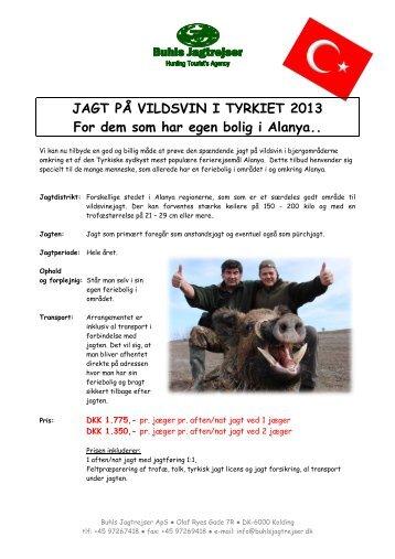 Vildsvin uden indkvartering 2013.pdf - Buhls Jagtrejser