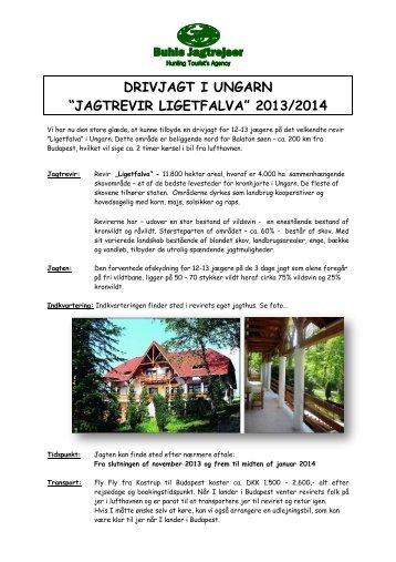 DRIVJAGT Ligetfalva 2013-14.pdf - Buhls Jagtrejser