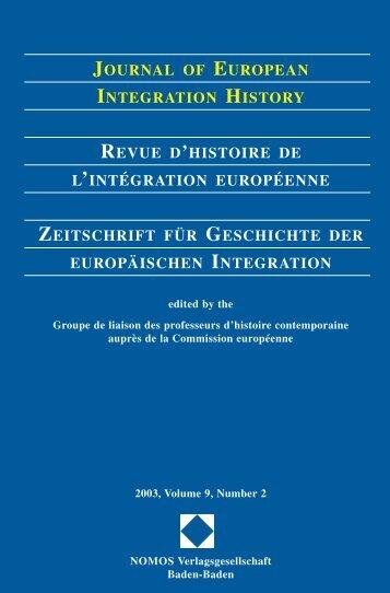 journal of european integration history revue d'histoire de l ...