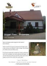 Drivjagt i Polen – Grupperejse - Korsholm Jagtrejser
