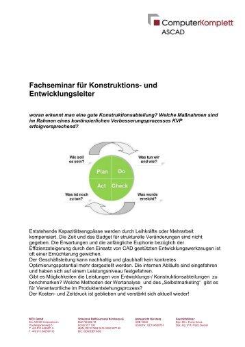 Fachseminar für Konstruktions- und Entwicklungsleiter - MTC GmbH