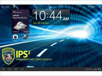 PRESENTACION – Proyecto Tabletas Electronicas de la Policia