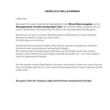 HERZLICH WILLKOMMEN - Company Golf