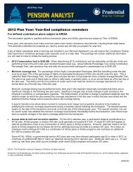 2012 Plan Year - Prudential Retirement