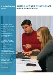 Wirtschaft und Wissenschaft 1 |2011 transferbrief Leipzig - AKSW