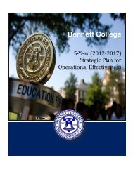 Strategic Plan - Bennett College