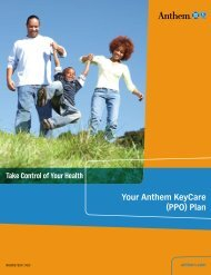 Your Anthem KeyCare (PPO) Plan