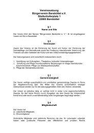 Satzung des Bürgerverein Barsbüttel e - Bürgerverein Barsbüttel eV