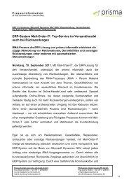ERP-System Mail-Order-IT: Top-Service im ... - Prisma Informatik