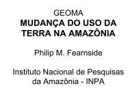MUDANÇA DO USO DA TERRA NA AMAZÔNIA - Geoma