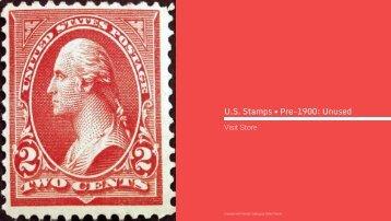 U.S. Stamps • Pre-1900: Unused