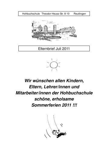 Deckblatt Mai Hohbuchschule Reutlingen