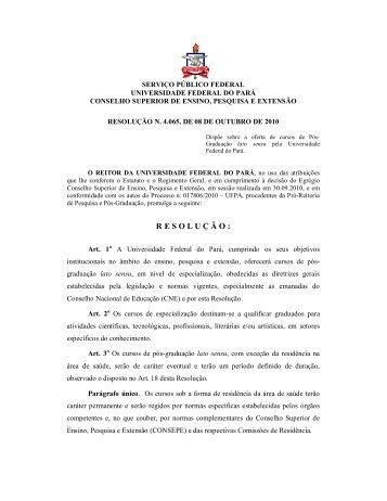 R E S O L U Ç Ã O : - Propesp - Universidade Federal do Pará