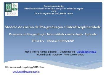 Dra. Maria Victória Ramos Ballester - Propesp