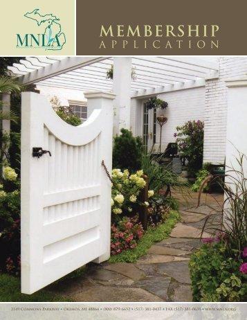 MEMBERSHIP - Michigan Nursery and Landscape Association