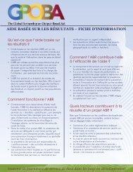 aide basée sur les résultats – fiche d'information - GPOBA