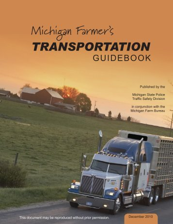 Farmer's Transportation Guidebook - State of Michigan
