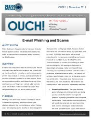 E-mail Phishing and Scams - Securing the Human