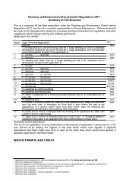 Planning and Environment (Fees) Regulations 2006 - Summary Of ...