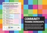 community training workshops - Moira Shire Council