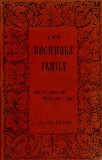 The Buchholz family, sketches of Berlin life;