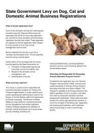 State Government Levy on Dog, Cat and Domestic Animal Business ...