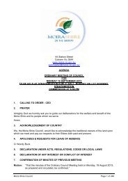 Agenda of Ordinary Council Meeting - 16 September 2013