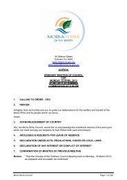 Agenda of Ordinary Council Meeting - 15 April 2013 - Moira Shire ...