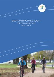 draft municipal public health and wellbeing plan 2013 - Moira Shire ...