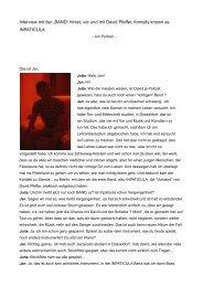 """Interview mit der """"BAND"""" hinter, vor und mit David ... - Multicult.fm"""