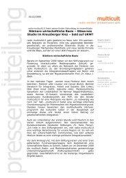 Stärkere wirtschaftliche Basis – Gläsernes Studio im ... - Multicult.fm