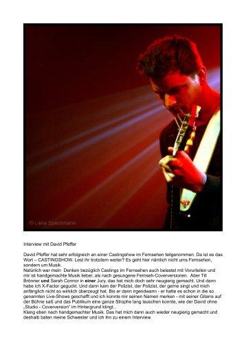 Interview mit David Pfeffer David Pfeffer hat sehr ... - Multicult.fm