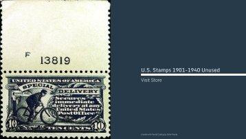 U.S. Stamps • 1901-1940 Unused