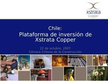 Xstrata Copper - Biblioteca - Cámara Chilena de la Construcción