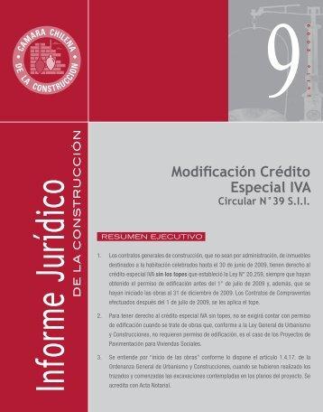 Modificación Crédito Especial IVA - Biblioteca - Cámara Chilena de ...