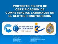 proyecto piloto de certificación de competencias ... - Biblioteca