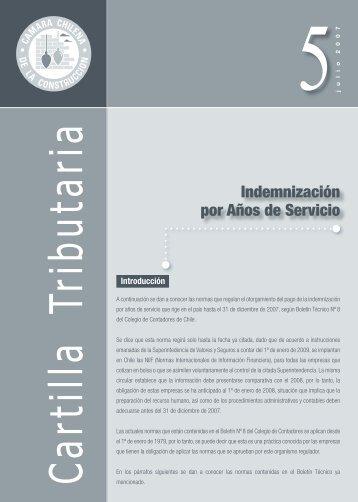 Indemnización por Años de Servicio - Biblioteca - Cámara Chilena ...