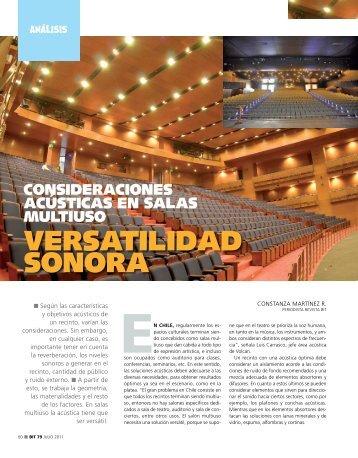 versatilidad sonora - Biblioteca - Cámara Chilena de la Construcción