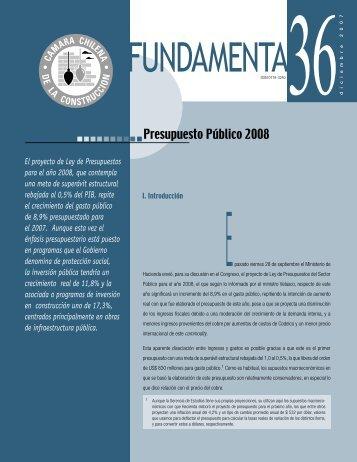 Presupuesto Público 2008 - Biblioteca - Cámara Chilena de la ...