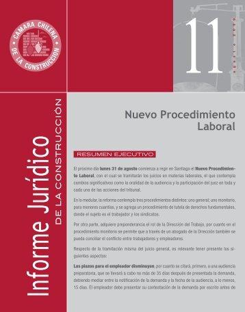 Nuevo Procedimiento Laboral - Biblioteca - Cámara Chilena de la ...