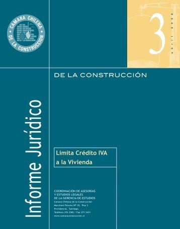 Limita Crédito IVA a la Vivienda - Biblioteca - Cámara Chilena de la ...