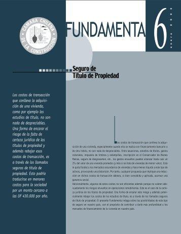FUNDAMENTA 6 - Biblioteca - Cámara Chilena de la Construcción