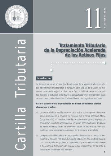 Tratamiento Tributario de la Depreciación Acelerada de ... - Biblioteca