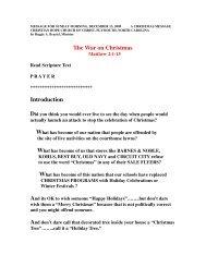 The War On Christmas - Christian Hope Church Home